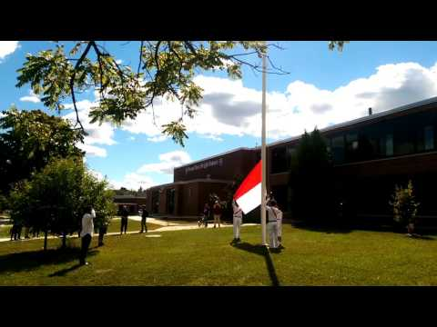 Indonesian Flag Raising Procession In Somersworth