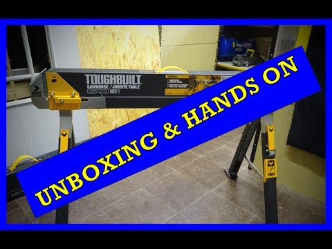 TOUGHBUILT C700 SAWHORSE / JOBSITE TABLE Arbeitsböcke Unboxing Hands on