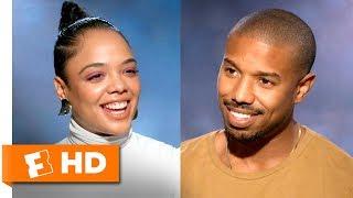 Michael B. Jordan & Tessa Thompson Strive for Realistic Love   'Creed II' Interview   Fandango