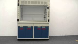 5′ Fisher Hamilton Safeaire Laboratory Fume Hood with Acid Lower Cabinets