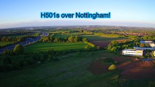 Nottingham Business Park, Strelley, and Swingate with the Hubsan H501s!