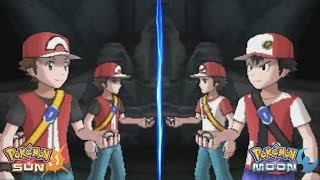 Pokemon Sun And Moon: Trainer Red And Red Origin Vs Alola Red And Old School Red