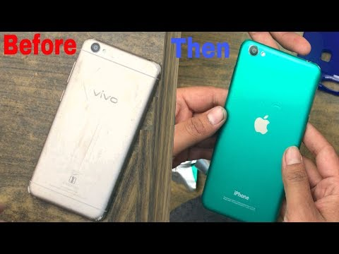 Vivo Y55s apple Iphone Cover Decorating like Iphone 7 How to  Lamination Green Paper
