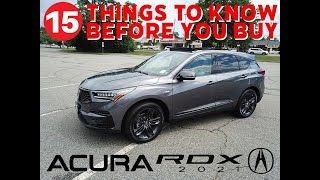 Acura RDX 2021 // A-Spec Edition SH-AWD Review // 15 Things To Know Before You Buy!!!