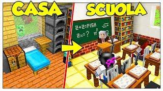 TRASFORMIAMO LA MIA CASA IN SCUOLA! - Minecraft ITA