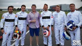KARTING RACE! Alonso vs Button vs Coulthard vs Häkkinen vs Vandoorne