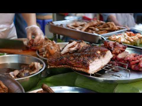 Thailand Street Food 4K - Braised pork - Chiangrai - Sep 22, 2017 #Clip01