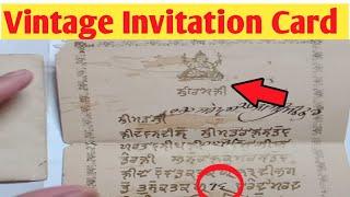 Vintage Marriage Invitation Card | Rare Indian Invitation Card Jammu And Kashmir State