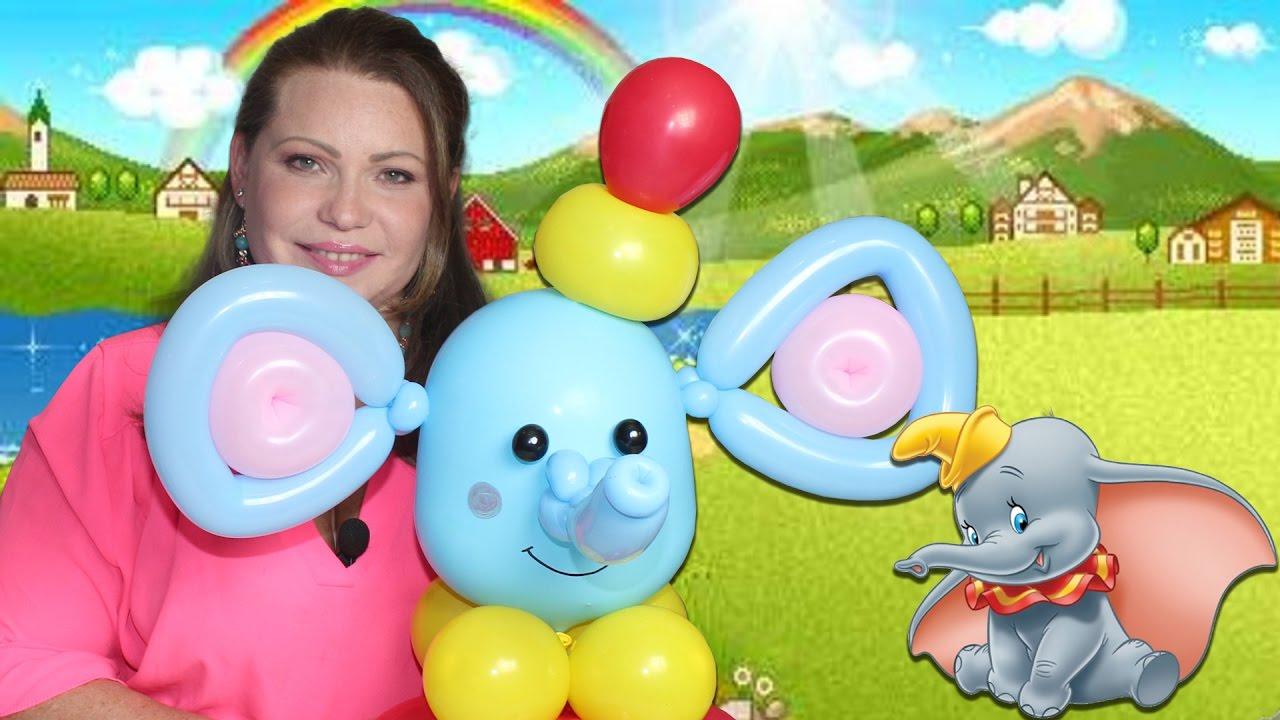 Dumbo el Elefante en Globos hecho paso a paso en globos, Elephant Balloons DIY
