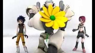 Verjaardagskaarten, Anime figuurtjes zingen Happy Birthday voor de jarige