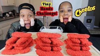 HOT CHEETO FRIED PICKLES (TINY HAND CHALLENGE) MUKBANG!