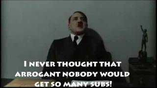 Hitler Is Informed WonkyTonkBotty Has Over 100 Subscribers