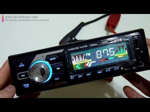 KYG Radio de Coche Bluetooth Estéreo AM FM Reproductor Audio MP3 WMA WAV | Revisión Español