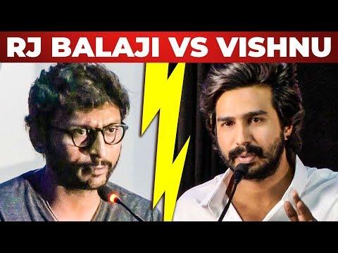 RJ Balaji - Vishnu Vishal நேரடி மோதல்? - LKG Movie 5 A.M Show Issue