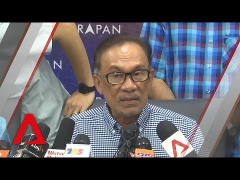 Anwar Ibrahim gives press conference after by election win