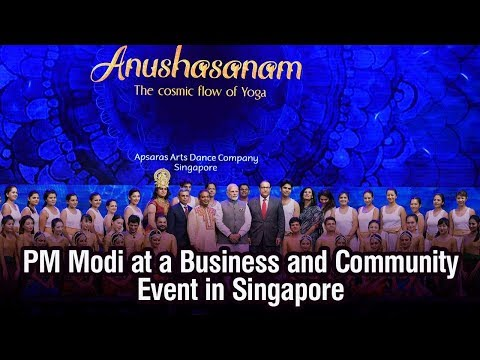 PM Modi at a Business and Community Event in Singapore