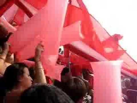 """""""Boca - Rojo. Entrada de la Banda"""" Barra: La Barra del Rojo • Club: Independiente • País: Argentina"""