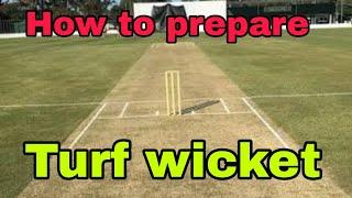 How to prepare Turf Wicket for cricket | JKSportstime