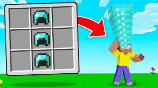 I Crafted A *NEW* GIANT DIAMOND HAT! (Minecraft)