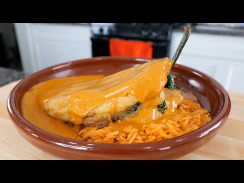 How to make Chiles Rellenos | FANCY Gourmet Baja California Mexico Seafood Dish