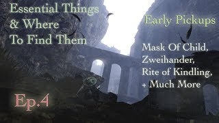 Dark Souls Remastered - The Beginning (Ten Item Finds!) - Essential Things & Where To Find Them Ep.4
