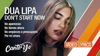 Dua Lipa - Don't Start Now (Lyrics + Español) Video Oficial