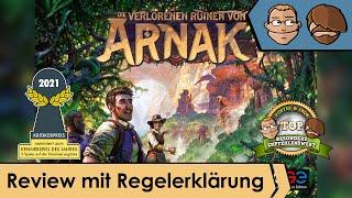 Die verlorenen Ruinen von Arnak (nominiert zum Kennerspiel des Jahres 2021)–Review & Regelübersicht