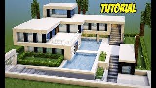 Minecraft casa super moderna videos for Tutorial casa moderna grande minecraft