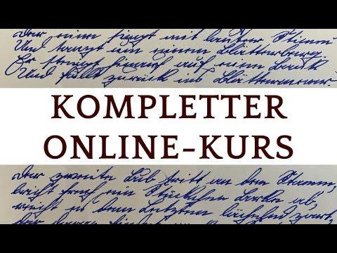 Altdeutsche Schrift (Kurrent, Sütterlin) lernen, kompletter Online-Kurs