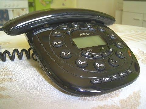 Telefon AEG  Style 15, Corded Phone