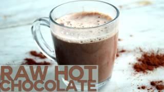 Raw Dairy Free Hot Chocolate Recipe - Vegan, Sugar Free, Gluten Free & Healthy