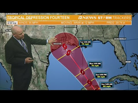 Tropical Depression 14 forecast to be hurricane next  week, SE Texas still in cone