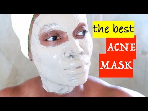 Facial mask na may clay at aspirin