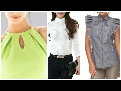 Beautifull new necklines neck designs for blouse & tops