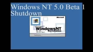 Windows NT 5.0 2000 Beta 1, 2, 3 Startup and Shutdown Sounds