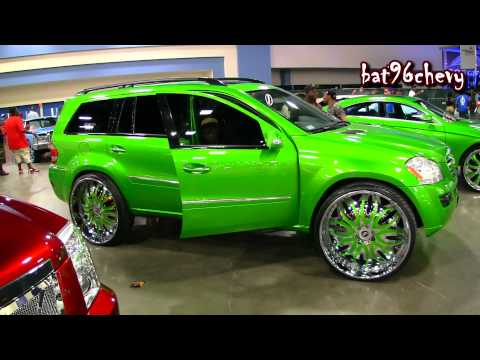 "Candy Green Mercedes Benz GL 450 Truck on 28"" Forgiatos Wheels - 1080p HD"