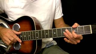 Easy Dobro Guitar Lesson in Open G Tuning