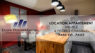 preview picture of video 'location - appartement - 3 pièces - meublé - Paris 16'