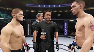Khabib vs. James Vick (EA Sports UFC 2) - Champion Fight ☝️🦅