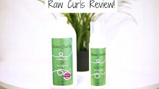 My Raw Curls Review | Medium Hold Gel & Styling Foam (Natural & Organic)