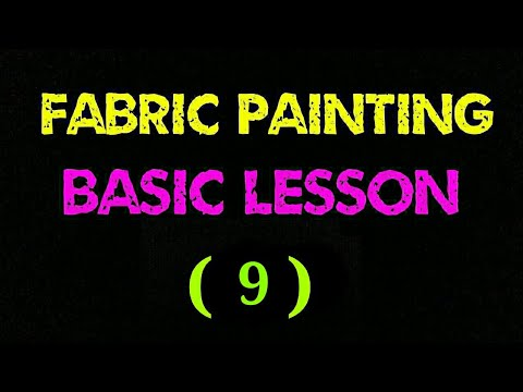 Freehand basic fabric tutorial lesson #9 | fabric tutorial | fabric painting technique