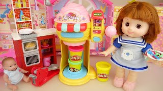 Baby doll baby Doli play doh ice cream shop and cooking toys story for kids