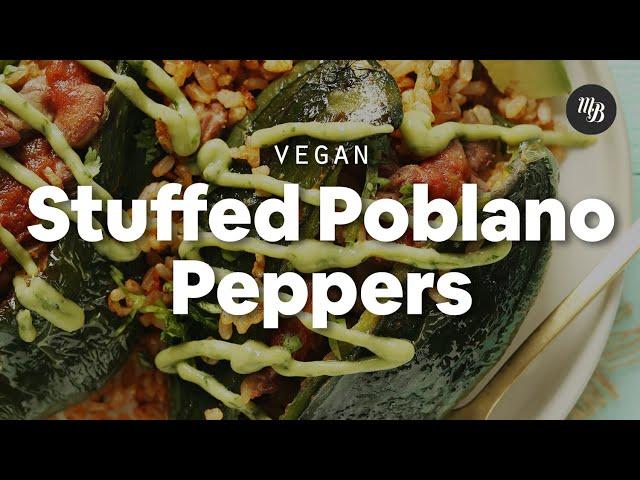 Vegan Stuffed Poblano Peppers | Minimalist Baker Recipes