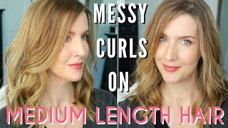 How To Style A Long Bob | EASY Undone Curls Tutorial