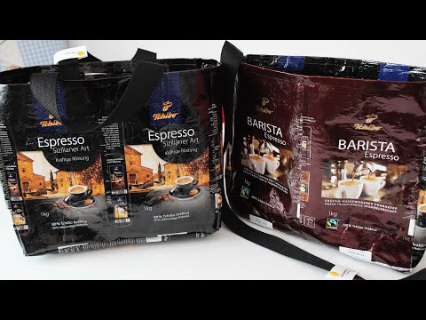 Tasche aus Tchibo - Kaffeeverpackung nähen Variante 2 | Upcycling & DIY