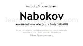 Nabokov pronunciation and definition