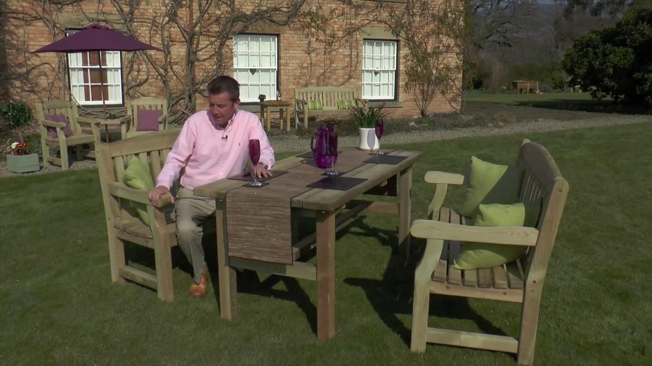 Zest 4 Leisure Wooden Emily Garden Bench