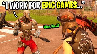 I pretended to be an Epic Games EMPLOYEE on Fortnite...