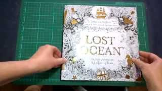 Colouring Book Review: Lost Ocean Walk through with Tips and Coloured Pages