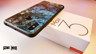 Чехол Xiaomi Mi Max 3. Стекло под мрамор